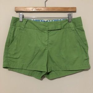 J.Crew Green Chino Broken in Fit Shorts